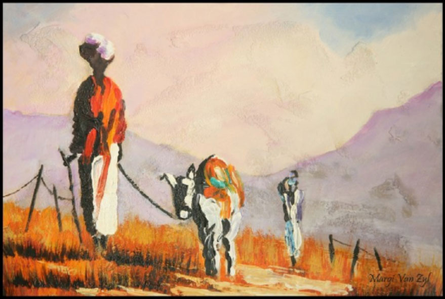 Masai Traders-art-realism7